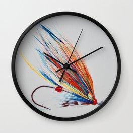 Salmon Fly Wall Clock