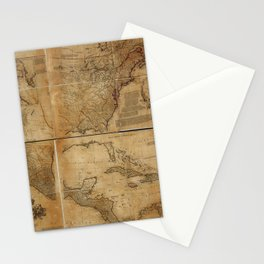 Map of North America (1752) Stationery Cards
