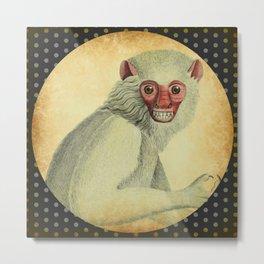 Polka Dot Monkey Metal Print
