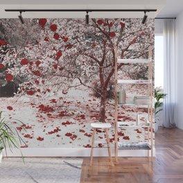 Camellia bush Wall Mural