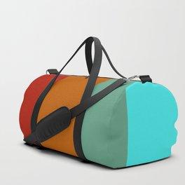 Yoshika - Multicolor Retro Stripes Duffle Bag