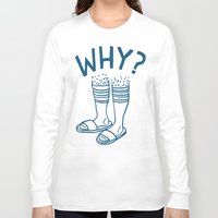 socks Long Sleeve T-shirts featuring Soccer Socks by Will Bryant