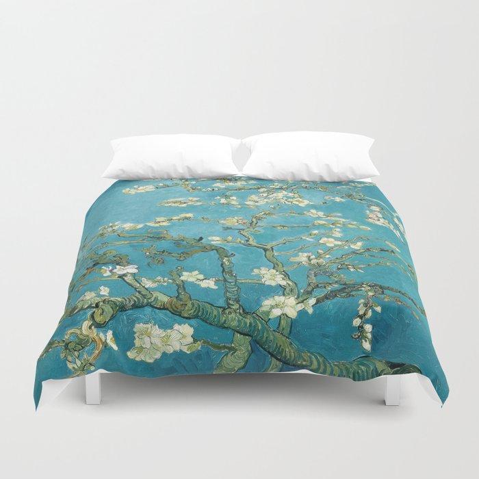 Almond Blossoms by Vincent van Gogh Duvet Cover