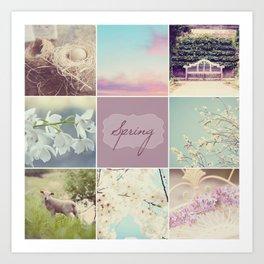 Spring Beauty - Vignette Art Print