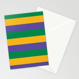 Mardi Gras Rugby Stripe Stationery Cards