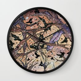 Our Night of the Crows Wall Clock