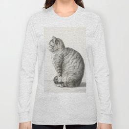 Sitting cat by Jean Bernard Long Sleeve T-shirt