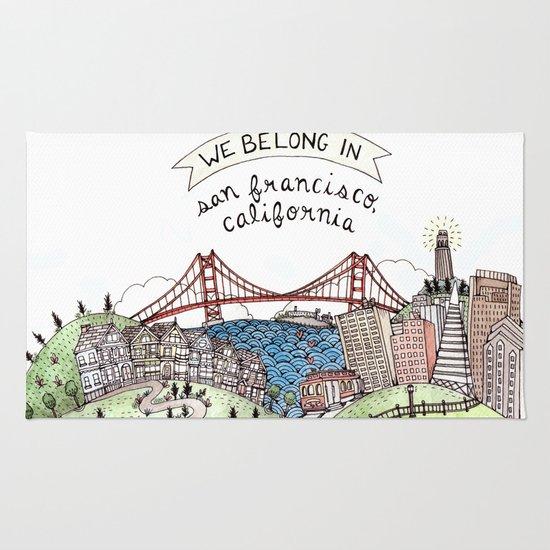 We Belong in San Francisco Rug