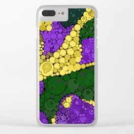 Gold river - abstract pattern Clear iPhone Case