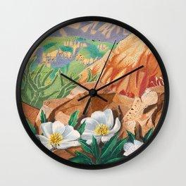 Desert Primrose Wall Clock