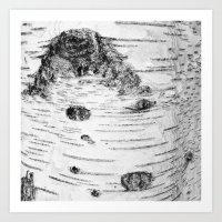 birch Art Prints featuring BIRCH by Kjellin