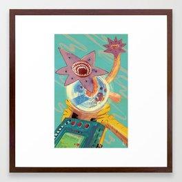 Don't Run Framed Art Print