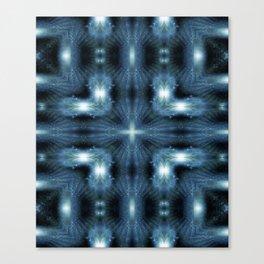 Blue Galaxy Burst Canvas Print