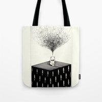 anxiety Tote Bags featuring Anxiety by Felicia Chiao