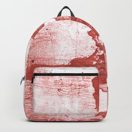 Indian red colored watercolor Backpack