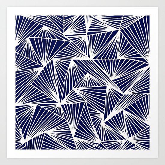 TriangleAngle (Navy) Art Print