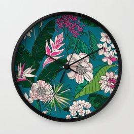 Bright Spring Floral Wall Clock
