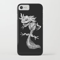 bouletcorp iPhone & iPod Cases featuring Axolotl Skeleton by Bouletcorp