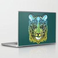 predator Laptop & iPad Skins featuring Nocturnal Predator by Rachel Caldwell