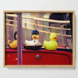 Restroom/Bathroom decor, Rubber ducks Serving Tray