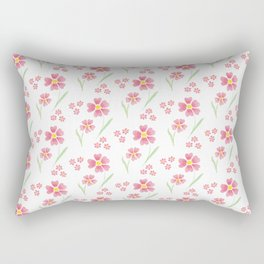 Watercolor floral pattern -small pink flowers Rectangular Pillow