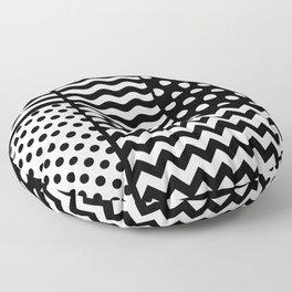 Mixed Patterns (Horizontal Stripes/Polka Dots/Wavy Stripes/Chevron/Checker) Floor Pillow