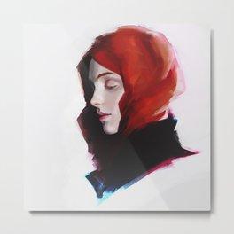 Girl Red Metal Print