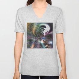 Inspiration - Mixed media sci-fi interpretation Unisex V-Neck