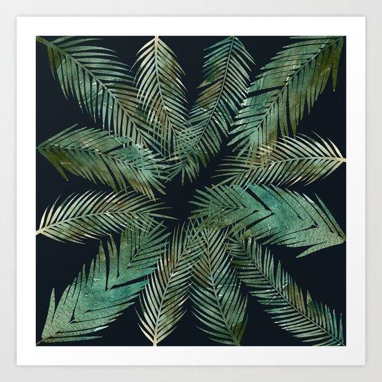 Tropica Central as night Art Print