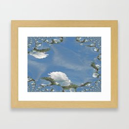Blue Skies Fractal Framed Art Print