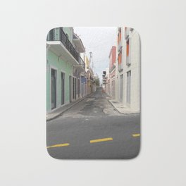 Street View of Old San Juan Puerto Rico Bath Mat