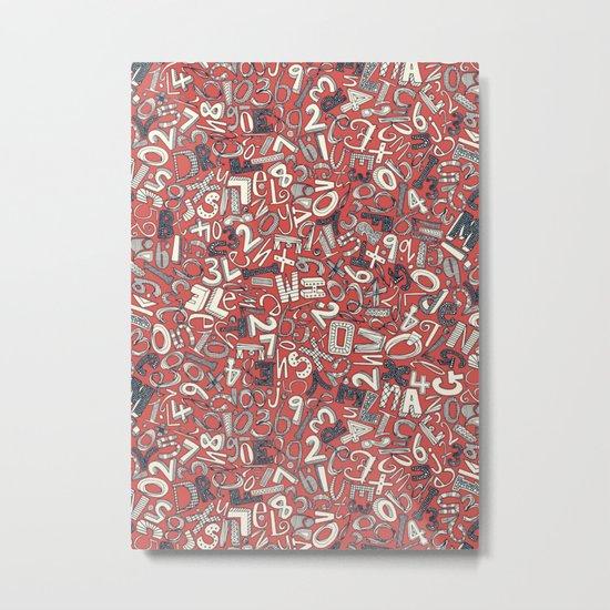 A1B2C3 coral red Metal Print