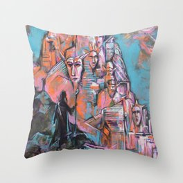 Approaching the City of Shadows Throw Pillow