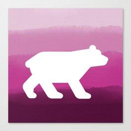 Inverted Pink Bear - Wildlife Series Canvas Print