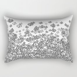 Leaf Blower B&W Rectangular Pillow