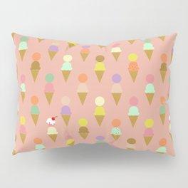 Ice Cream Cone Pattern Pink Robayre Pillow Sham
