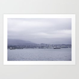 Looking out over the water Vancouver Art Print