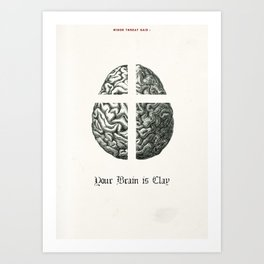 Punk Quotes Poster Serie / Minor Threat Said : Your Brain Is Clay Art Print