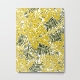 Yellow Mimosa Metal Print