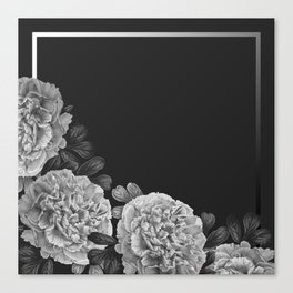 Flowers in the night Canvas Print