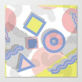 Memphis Geometric Pattern Canvas Print