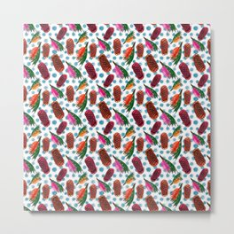 Beautiful Australian Native Florals - Grevillea and Beehive Ginger Metal Print