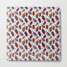 Beautiful Australian Native Florals - Grevillea and Beehive Ginger Metal Print