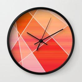 Hot Pink Blush Wall Clock