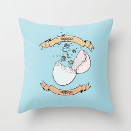 Manda Huevos Throw Pillow