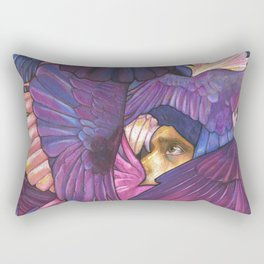 A Murder of Ravens Rectangular Pillow