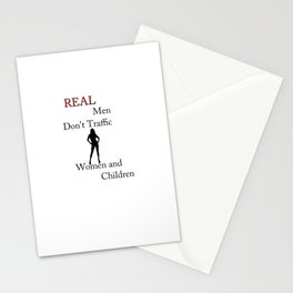Real Men Don't Traffic Stationery Cards