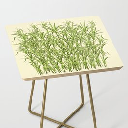 Sugar Cane Exotic Plant Pattern Side Table