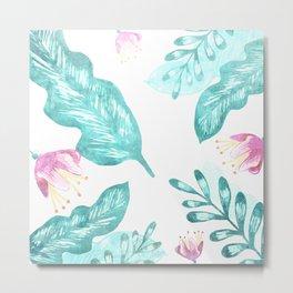Nature Turquoise Metal Print