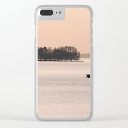 Sunset Marina Clear iPhone Case